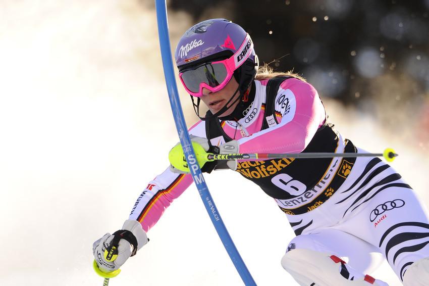 Maria Höfl-Riesch sorgte in Lenzerheide für einen versöhnlichen Slalom-Ausklang - © Alain Grosclaude/AGENCE ZOOM
