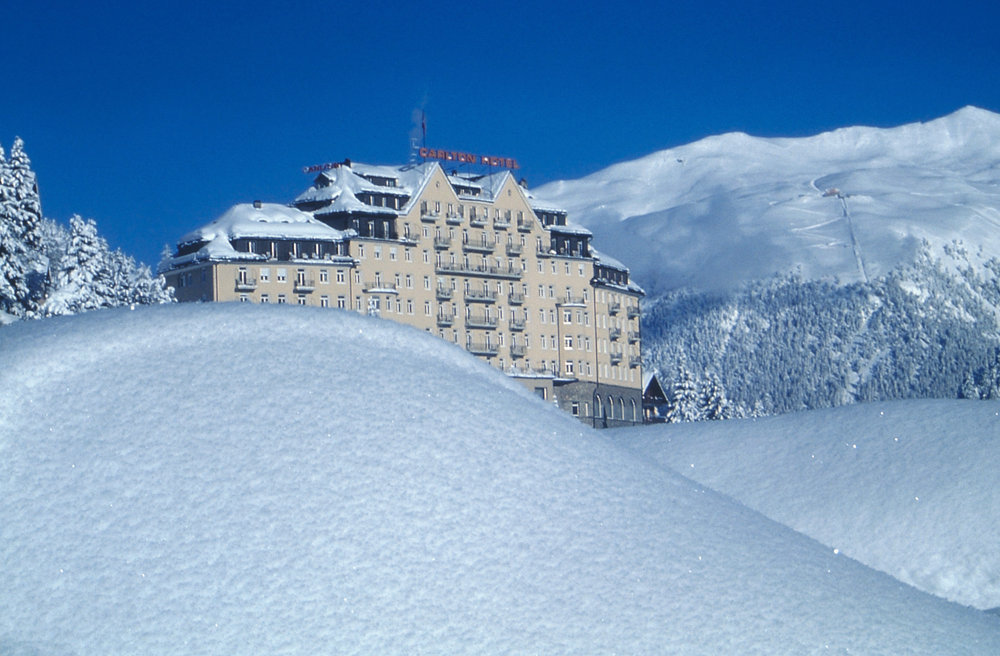 The luxurious Carlton Hotel. St Moritz in the snow - © Carlton Hotel