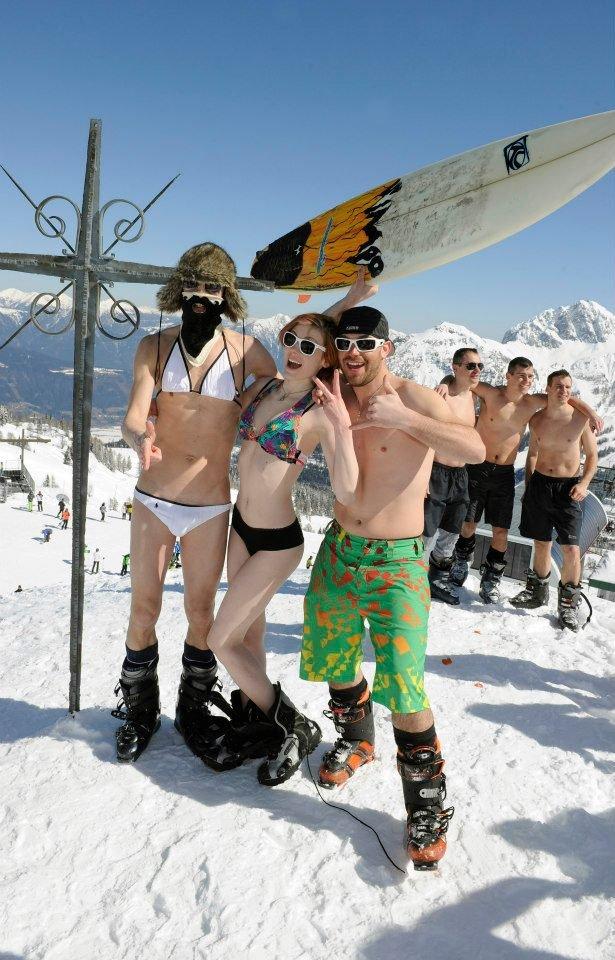 Chaute ambiance lors de la Snow Beach Party de Nassfeld Pressegger See - © Nassfeld Pressegger See