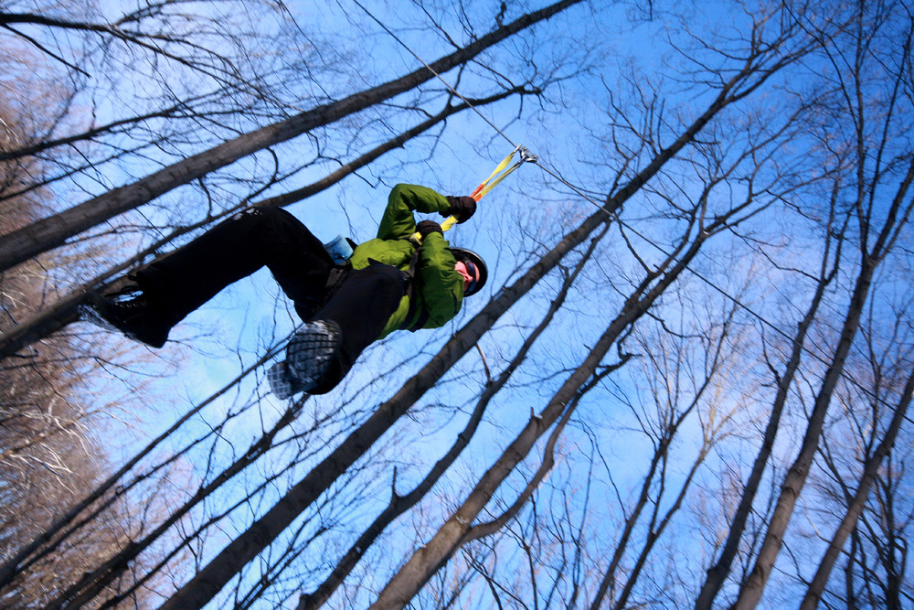 Zipline Adventure available year-round at Boyne Mountain Resort. - © Courtesy of Boyne Mountain Resort