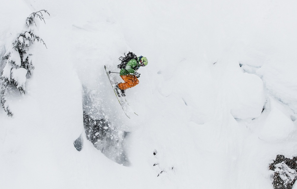 Giffin sending it at Mt. Baker. - © Liam Doran