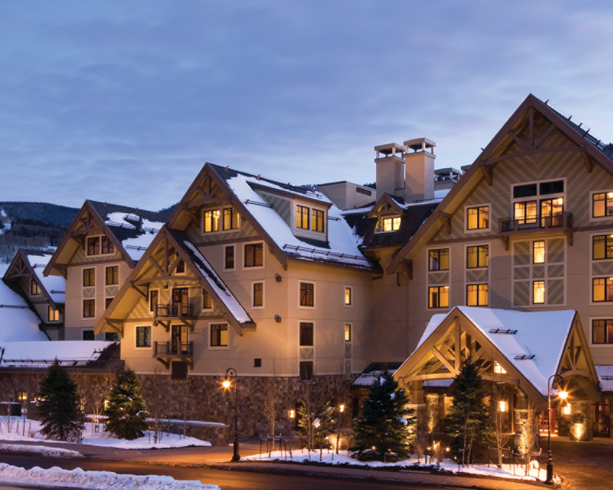 The exterior of the Four Seasons Vail. - © Jeff Scroggins