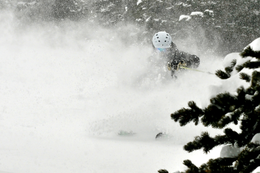 Eric Rasmussen finds one of Breckenridge's many powder stashes. - ©Josh Cooley