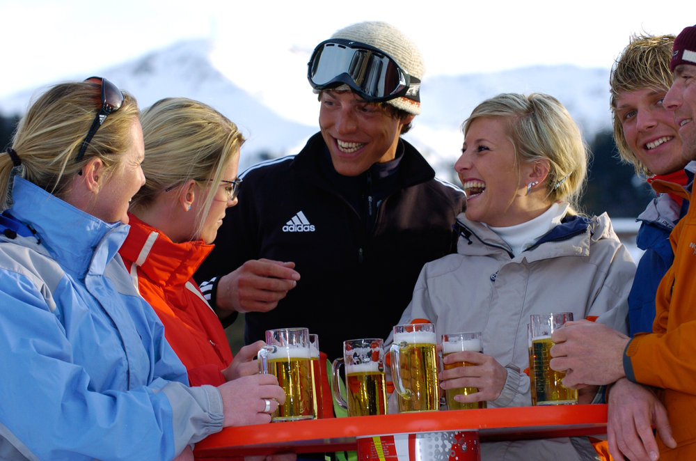 Austria has some of the cheapest beer prices on the slopes - ©Albin Niederstrasser/Hinterglemm
