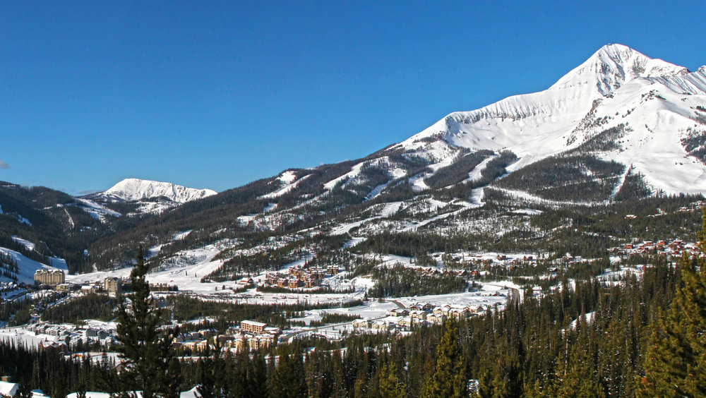 Big Sky Resort and Lone Peak. Photo by Chris Kamman, courtesy of Big Sky Resort.
