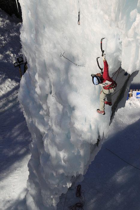 French ice climber Stephanie Maureau. Courtesy of La Plagne - ©La Plagne