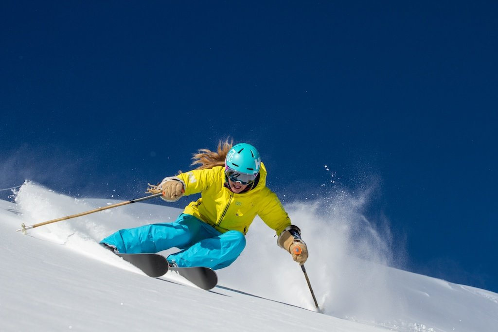 Kaylin Richardson tears it up at Canyons in Park City, Utah. - © Liam Doran