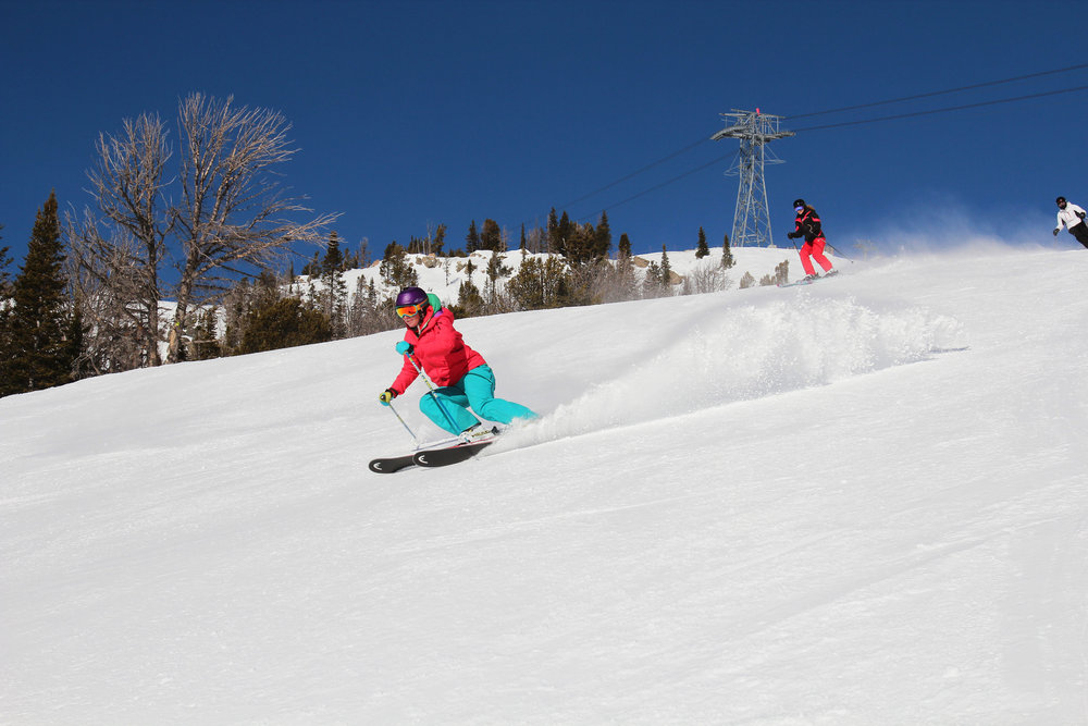 Smearing turns at Jackson Hole. - © Patrick Nelson/Jackson Hole Mountain Resort