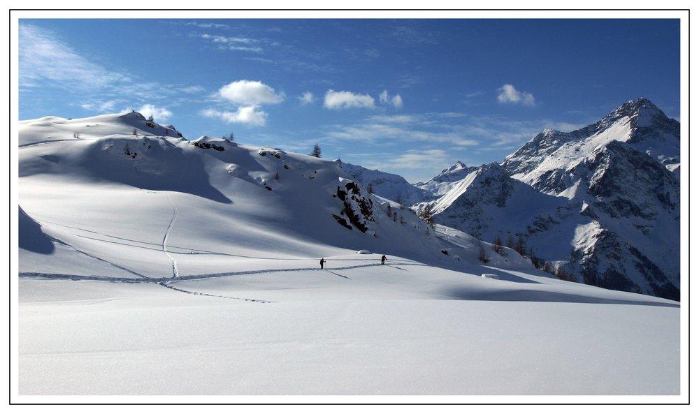 Untracked powder in Monterosa - ©Monterosa Ski