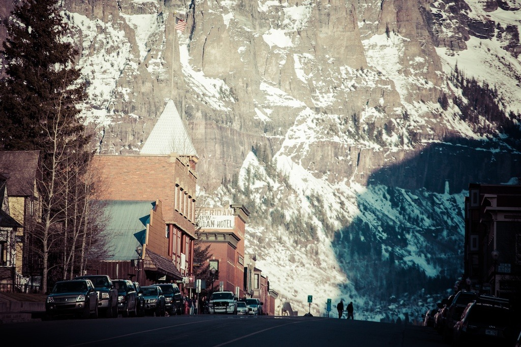 To-Hell-U-Ride...The road to Telluride ends in a box canyon with one way in and out of town. - © Liam Doran