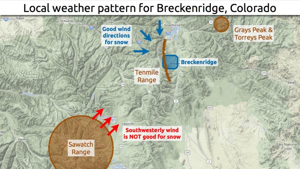 How to predict snow fall totals in Breckenridge. - © OpenSnow.com