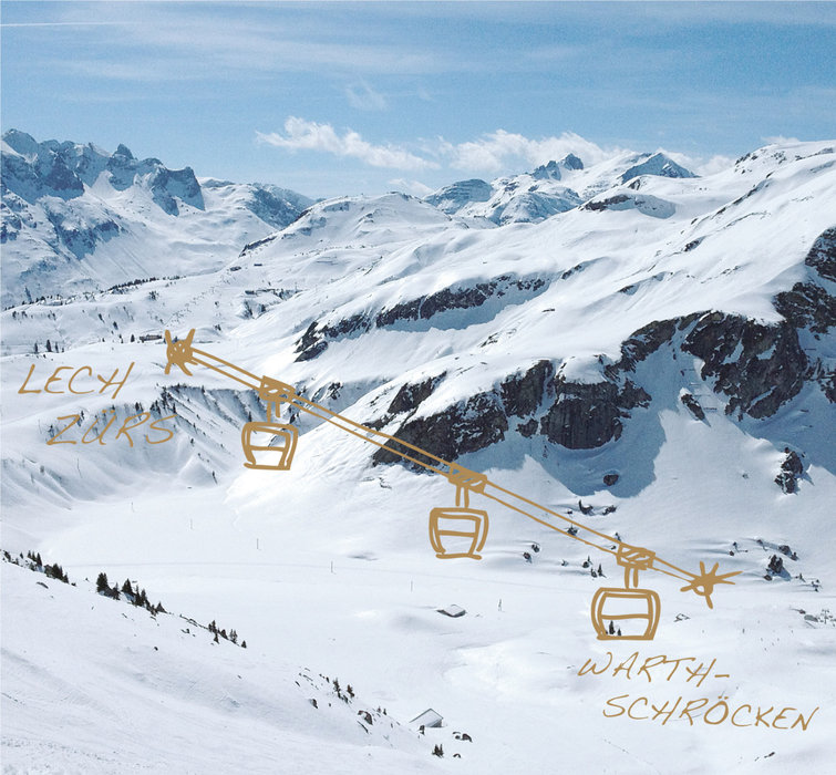 Auenfeldjet - New gondola to connect the big Arlberg resorts Lech-Zuers and Warth-Schroecken