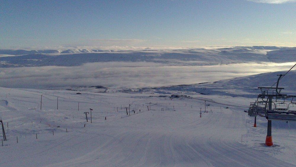 Hlidarfjall ski resort Iceland