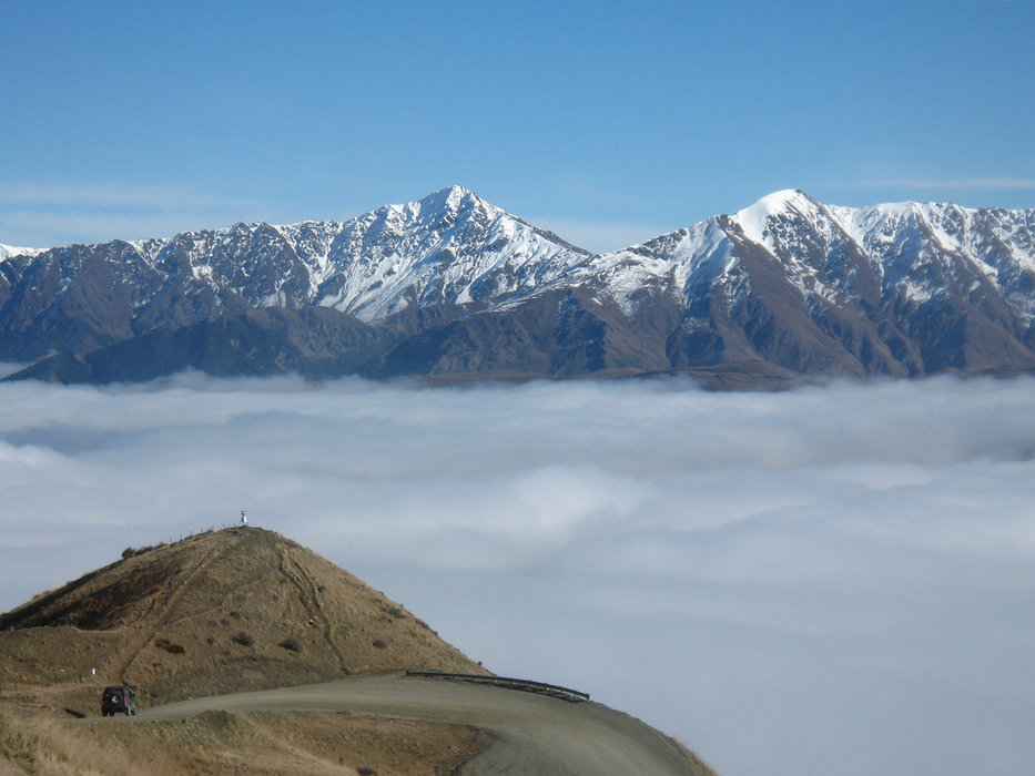 The road between The Remarkables Resort and Queenstown somewhere below the clouds - ©Jussarian
