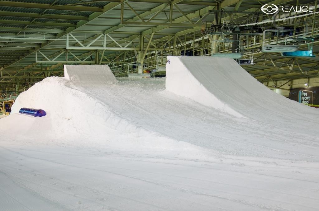 Het funpark in SnowWorld Landgraaf in de zomer