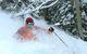 A skier finds powder at Durango Mountain Resort, Colorado