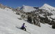 A skier finds plenty of room backcountry skiing in Grand Targhee, Wyoming