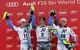 Podium der Hahnenkamm-Kombination: Alexis Pinturault, Ivica Kostelic und Thomas Mermillod-Blondin - © Christophe Pallot/AGENCE ZOOM