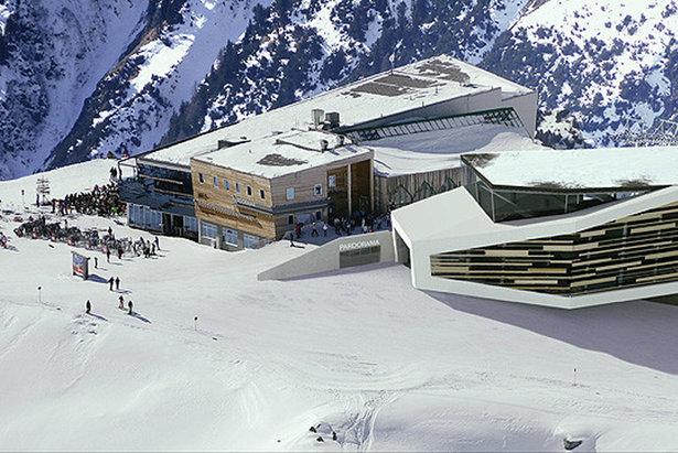 Ischgl - wizualizacja górnej stacji nowej gondoli na Pardatschgrat   - © Ischgl