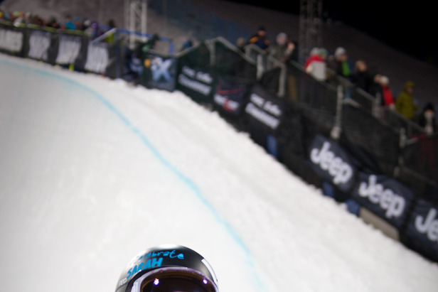 Kelly Clark won 1st place on Friday night, making it her second consecutive gold metal at the X-Games. Photo by Sasha Coben