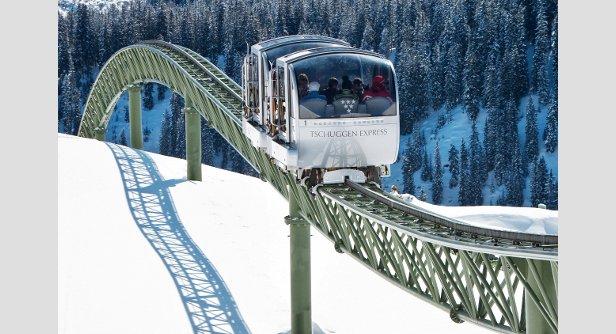 De mooiste skiliften: de Tschuggen Express in het Zwitserse Arosa.  - © Tschuggen Hotel Group AG