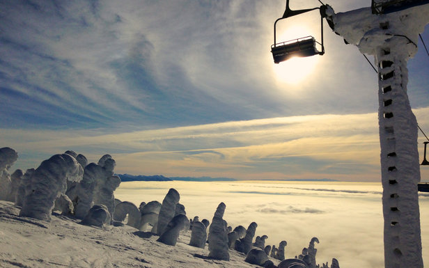 Snow ghosts haunt Whitefish Mountain  - © Becky Lomax