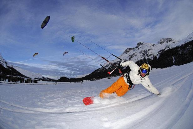 Snowkiting na Silvaplana
