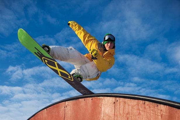 Snowboard trick, Hyland, MN
