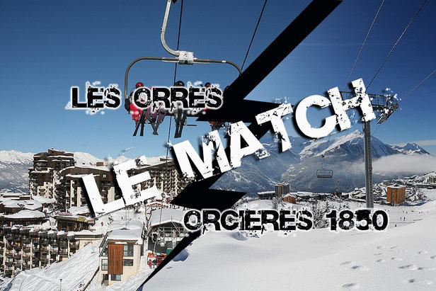 Match comparatif entre les stations de ski d'Orcières 1850 et des Orres