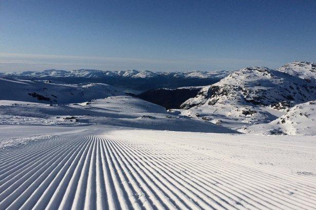 Rekord mye snø på Folgefonna baner vei for god vårski og en god vårsesong.