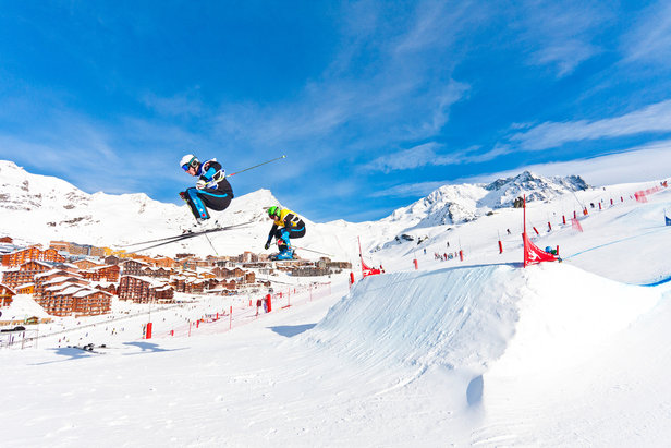 Saison après saison, Val Thorens s'impose comme une étape importante des Coupes d'Europe et Coupes du Monde de Skicross