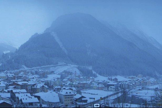 Neuschnee in Ischgl am Morgen des 22. Oktober 2014