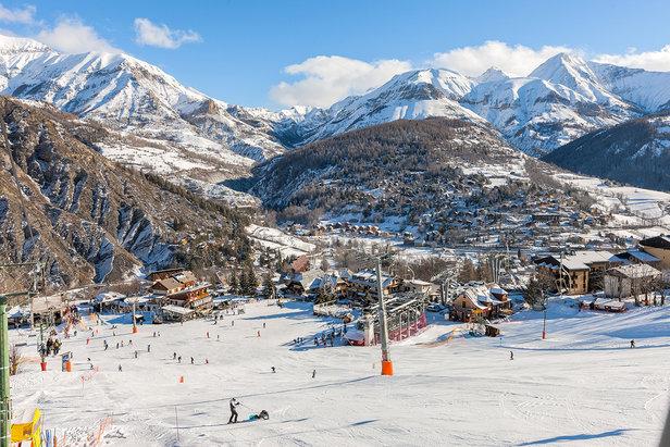 Départ des pistes de ski de Val d'Allos le Seignus