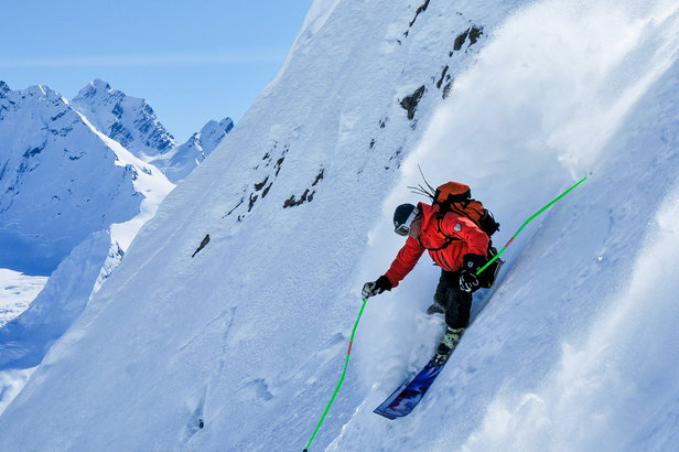 Skier Dean Cummings enjoys the steep life.