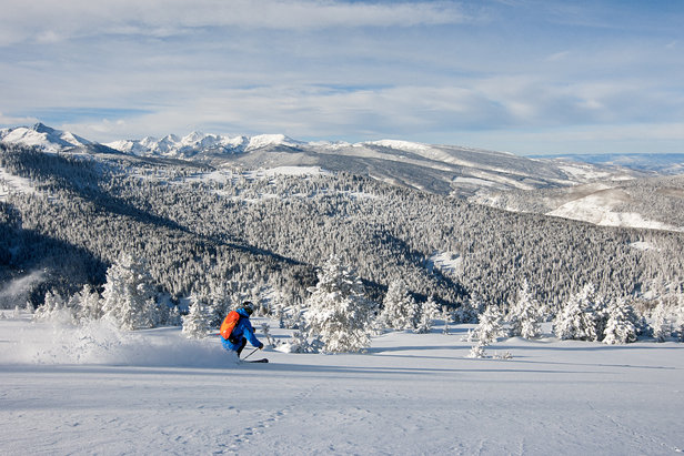 Stunning views and epic snow in Blue Sky Basin.  - © Daniel Milchev / Vail