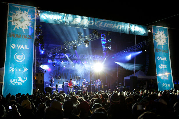 Vail's Snow Daze annual mountainside bash offers free concerts to guests.  - © Vail