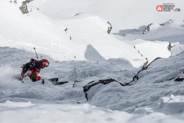 Ganz auf sich gestellt, muss der Sportler den Berg hinab