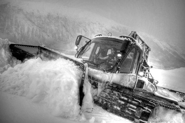 Massivt snøfall i nord- ©Narvikfjellet