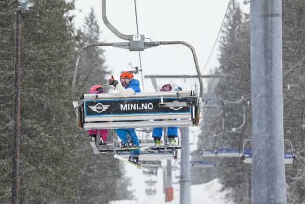Snødump i Oslo Vinterpark
