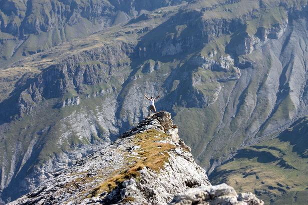 Freudenschrei in die Bergwelt - ©Sebastian Lindemeyer