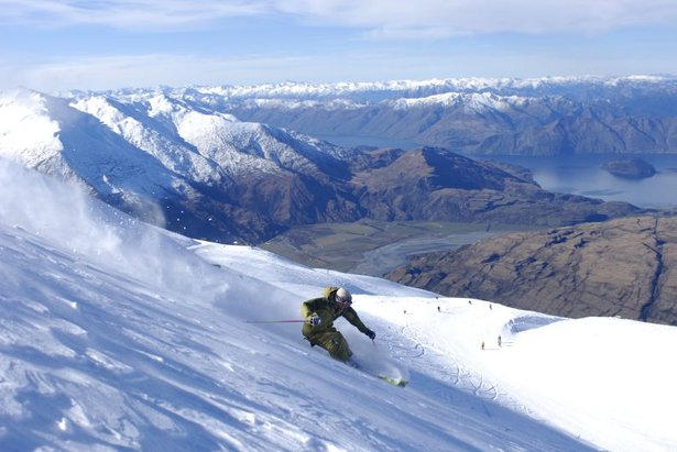 A skier at Treble Cone, NZ.