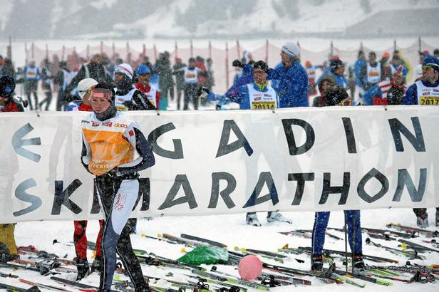 Vor dem Start des 44. Engadin Skimarathon