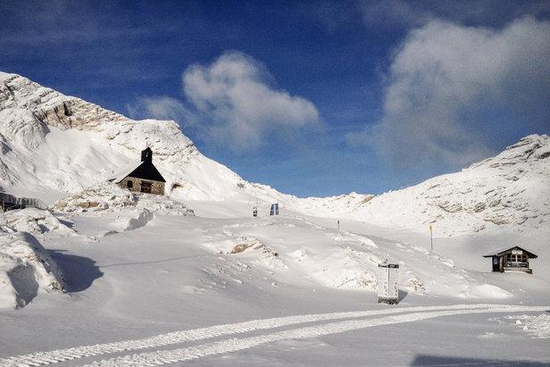 Sneeuwrijkste gebied week 1: Oostenrijk met winst het nieuwe jaar in ©Zugspitze Facebook
