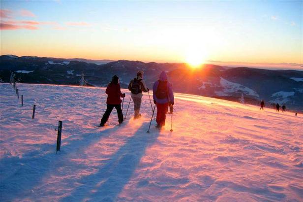 Auf breiten Tretern über weiße Kuppen: Schneeschuhwandern im Schwarzwald