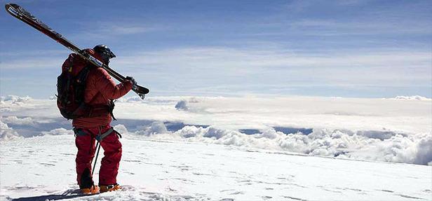 Skieur horizon