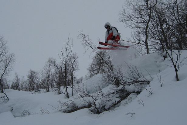 Pudder i Sogndal Skisenter Hodlekve