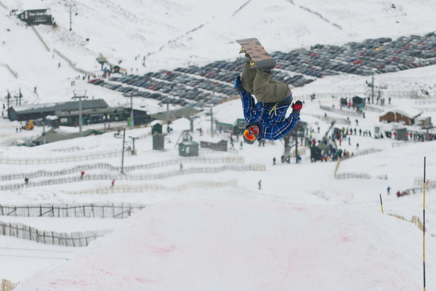 Freestyle boarder in Glenshee, Scotland  - © Glenshee