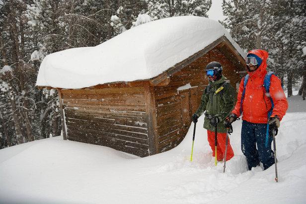 Gros épisode neigeux à Grandvalira : 140 cm de neige cumulée en quelques jours (janvier 2017)