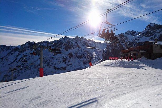 Belles conditions de ski sur le domaine du Grand Tourmalet