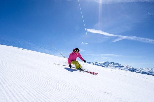 Le soleil et la neige sont au rendez-vous sur le domaine skiable de Rosière - Espace San Bernardo